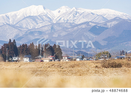 蔵王山と釜房湖 48874688