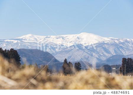 蔵王山と釜房湖 48874691