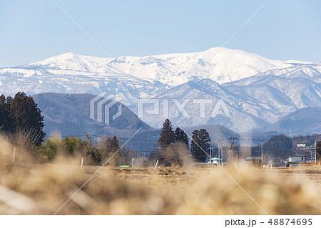 蔵王山と釜房湖 48874695