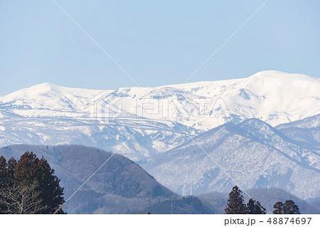 蔵王山と釜房湖 48874697