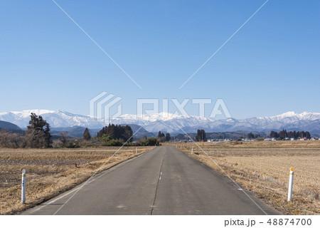 蔵王山と釜房湖 48874700