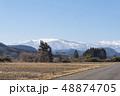 蔵王山と釜房湖 48874705