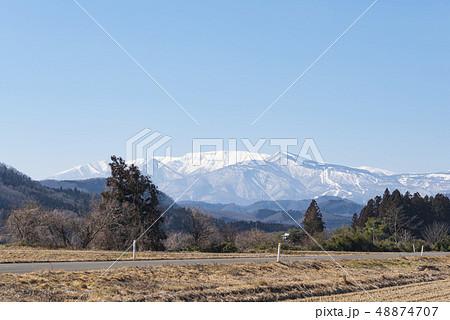 蔵王山と釜房湖 48874707