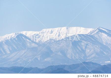 蔵王山と釜房湖 48874714