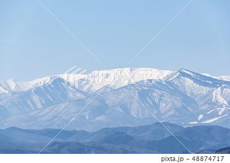 蔵王山と釜房湖 48874717