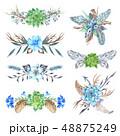 Tribal Vignette Forest Wreath Design Elements Set 48875249