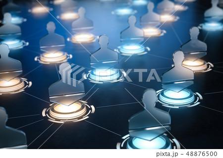 Social network internet communication concept. 48876500