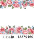 バラ フローラル リーフのイラスト 48879460