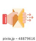 郵便 封筒 Eメールのイラスト 48879616