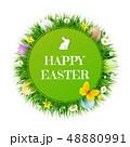 イースター 復活祭 たまごのイラスト 48880991