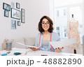 デザイン 柄 女性の写真 48882890