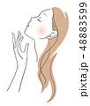 ベクター ビューティー 女性のイラスト 48883599