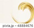 金 和紙 背景のイラスト 48884676