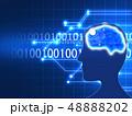 AI 人工知能 人工頭脳 テクノロジー データ解析 電脳 最先端技術 進歩 48888202