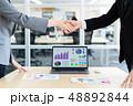 握手 ビジネスマン ビジネスの写真 48892844