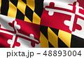 メリーランド州 旗 フラッグのイラスト 48893004