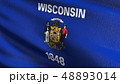 ウィスコンシン州 旗 フラッグのイラスト 48893014