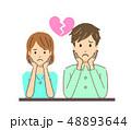 離婚 別れ 夫婦のイラスト 48893644