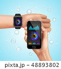 Realistic Smart Watch Composition 48893802