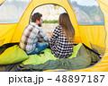 キャンプ 野営 カップルの写真 48897187