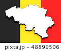 3D map of Belgium on the national flag 48899506