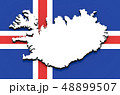 3D map of Iceland on the national flag 48899507