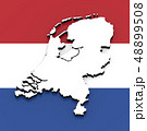 3D map of Netherlands on the national flag 48899508