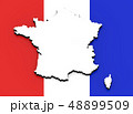 3D map of France on the national flag 48899509