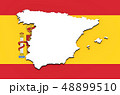 3D map of Spain on the national flag 48899510