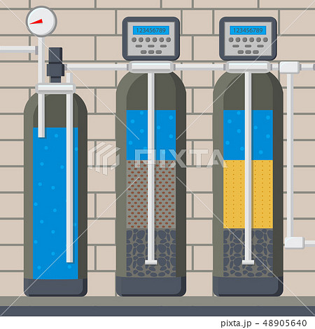Water Filter in Cut Cartoon Vector Illustration 48905640