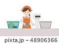 レジ作業 女性 48906366