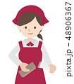 レジ作業 女性 48906367