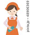 レジ作業 女性 48906369