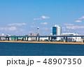 (東京都-都市風景)荒川岸から望む首都高速と江戸川区の風景1 48907350