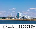 (東京都-都市風景)荒川岸から望む首都高速と江戸川区の風景2 48907360