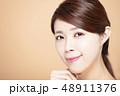 モデル 顔 面の写真 48911376