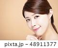 モデル 顔 面の写真 48911377