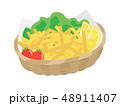 揚げ物 食べ物 ファーストフードのイラスト 48911407