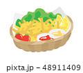 揚げ物 食べ物 ファーストフードのイラスト 48911409