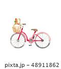 赤い自転車、ショッピング 48911862
