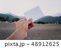 Empty paper note in hand  48912625
