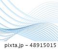 波 風 流れのイラスト 48915015