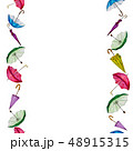 Watercolor seamless pattern of colorful umbrellas. 48915315