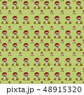 Seamless pattern with mushrooms Boletus edulis. 48915320