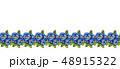 Seamless watercolor pattern of blue pansies. 48915322