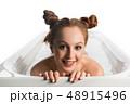 女性 お風呂 浴室の写真 48915496
