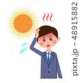ビジネスマン 熱中症 ベクターのイラスト 48915882