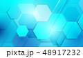 抽象的 背景 青のイラスト 48917232