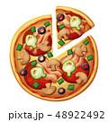 ピザ ピッツァ イタリアのイラスト 48922492