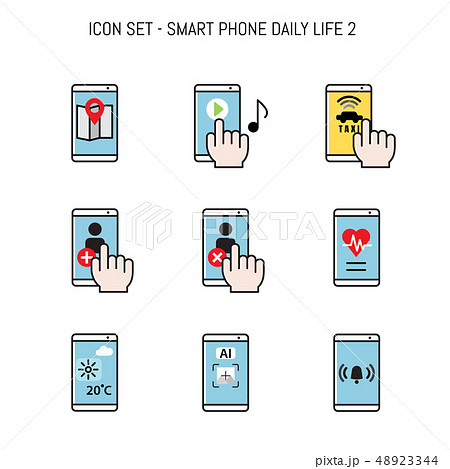 Daily life icon collection set flat layout 48923344
